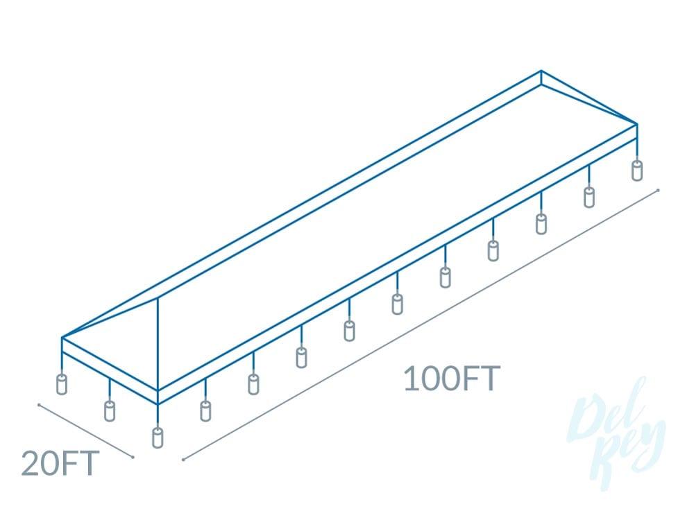 20' x 100' frame tent