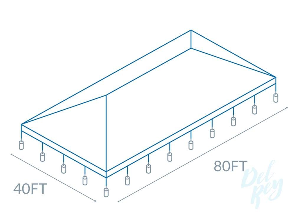 40' x 80' frame tent