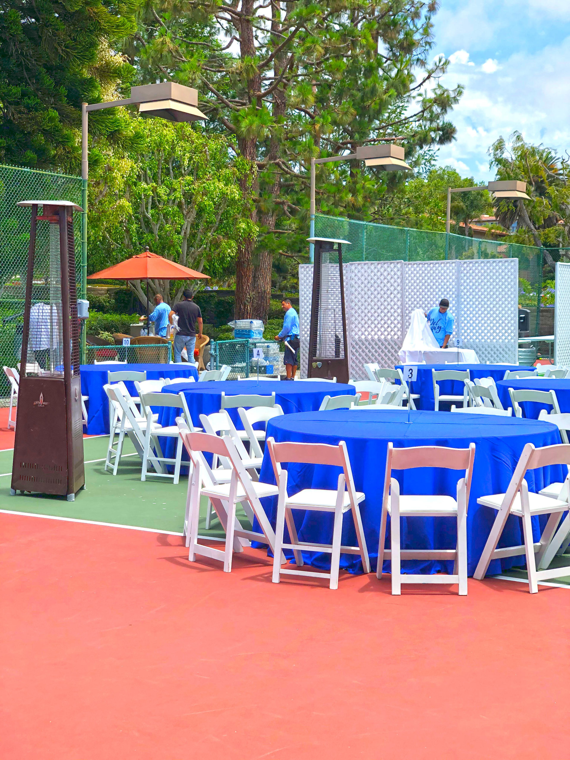Dinner Party on tennis court!