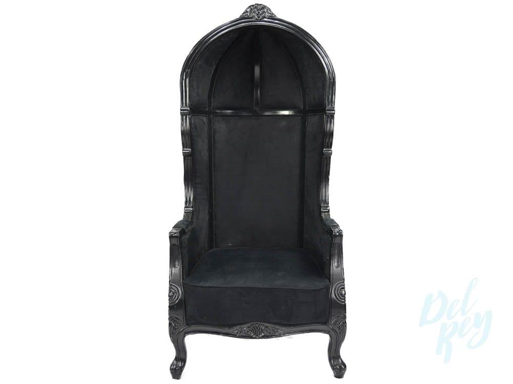 Black Victorian Balloon Chair