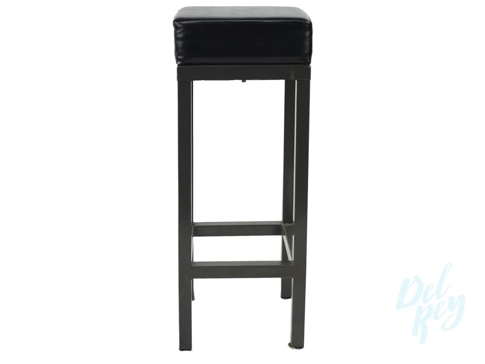 Black Padded Bar Stool