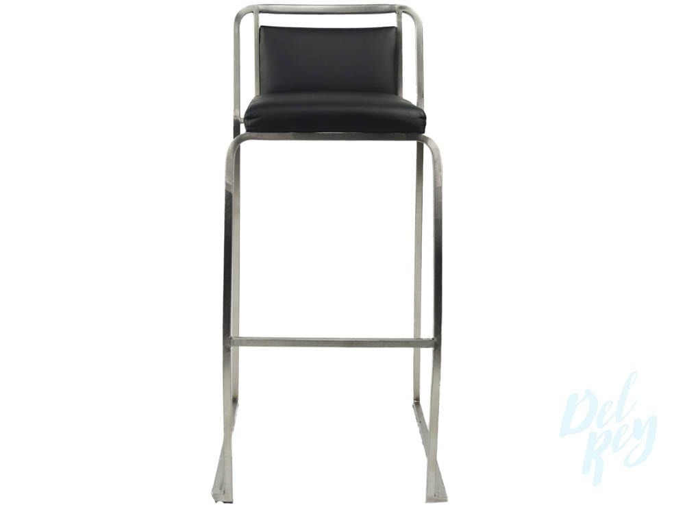 Black Stainless Bar Stool