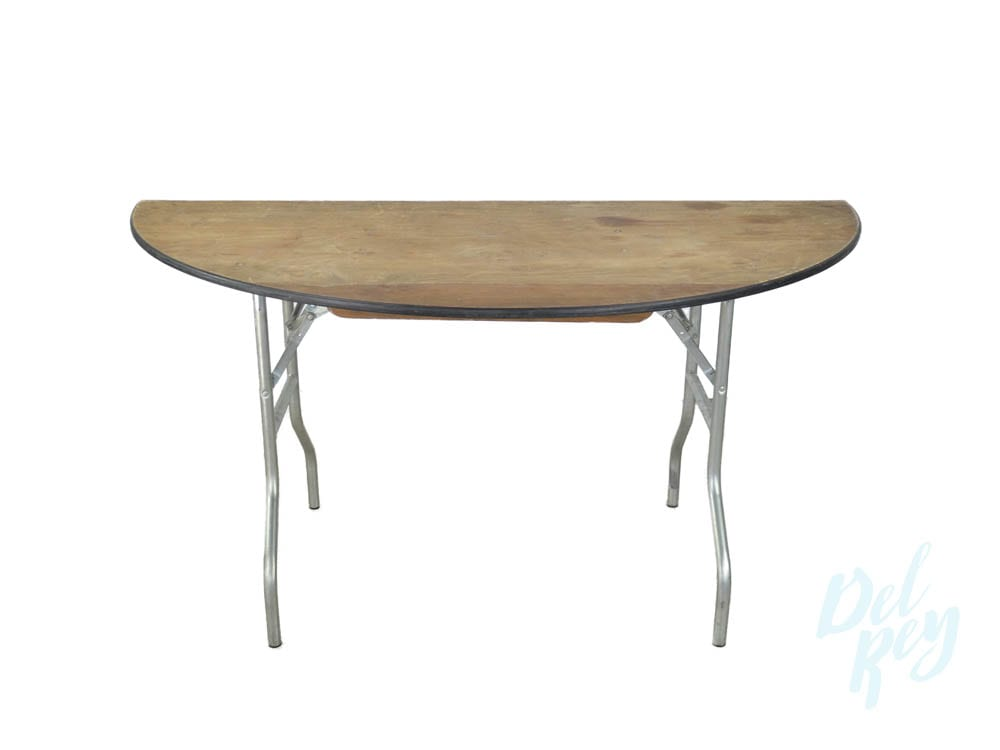60 Inch Half Round Table