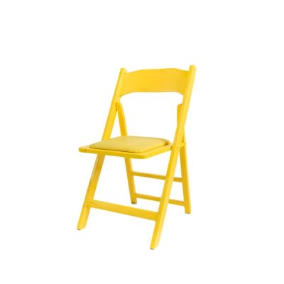 Yellow Folding Chair Del Rey party rentals